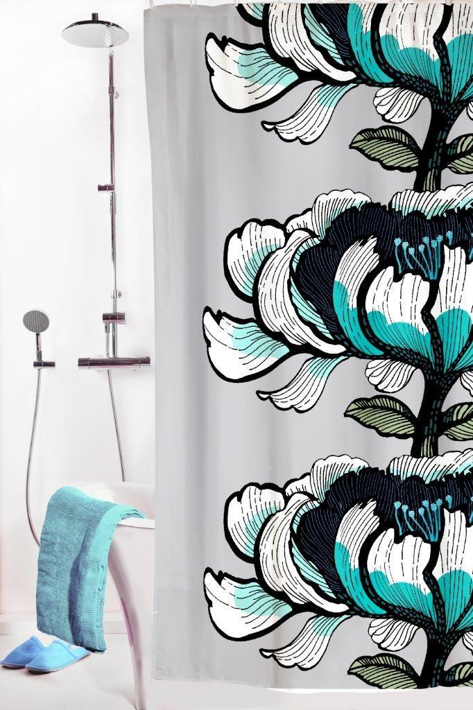 Vallila Interior AW14, Isadora shower curtain blue by Tanja Orsjoki