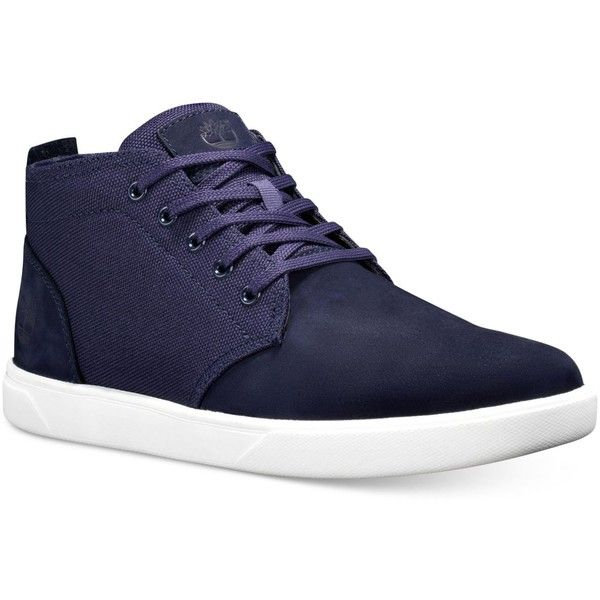 Timberland Men's Groveton Chukka Sneakers ($80) ❤ liked on Polyvore featuring men's fashion, men's shoes, men's sneakers, dark blue, mens chukka boots, mens shoes, mens sneakers, mens chukka sneakers and mens chukka shoes