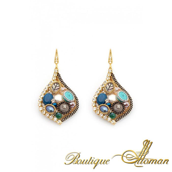 Colorful Charm Earrings By Boutique Ottoman www.BoutiqueOttoman.com