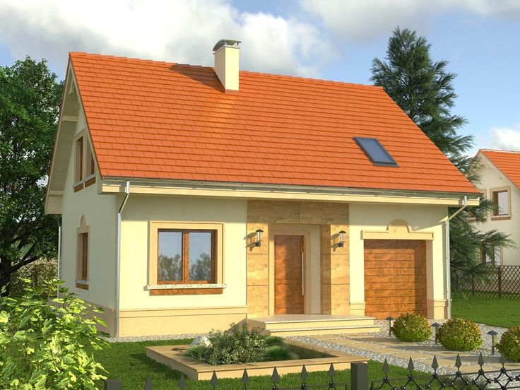 Na poddaszu pod dachem stromym znajdują się 3 sypialnie (największa z nich z garderobą) oraz duża łazienka.