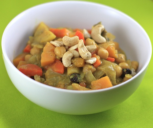 Butternut squash curry.