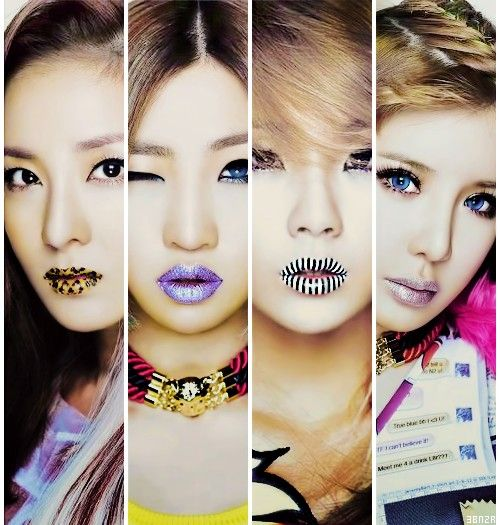 2NE1 So like this ladies. They are very sassy tone to their stuff and love that about them. I'm a little picky about but this is a all girl group I enjoy listening too.