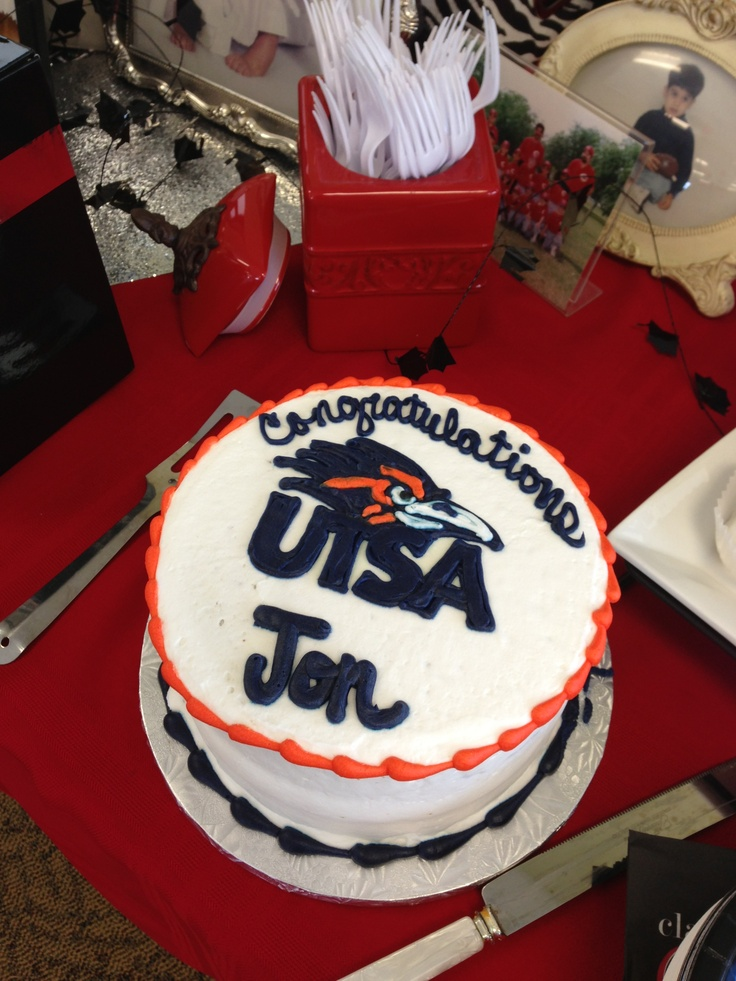 UTSA cake Graduation party Pinterest Cakes