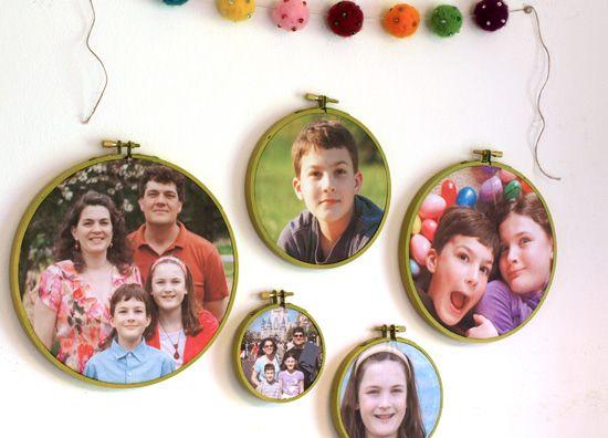 DIY Embroidery Hoop Picture Frames - Tutorial