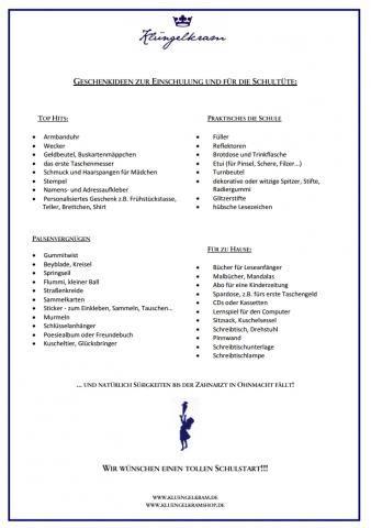 Die große Liste mit Geschenkideen für die Schultüte und zur Einschulung