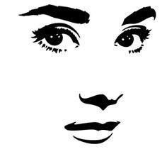 stencil template face - Google Search