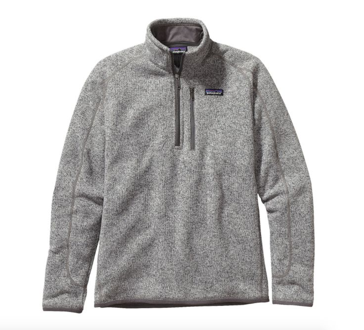 Say goodbye to bulk with the Patagonia Men's Better Sweater® 1/4-Zip Fleece in Stonewash that is as comfortable in the city as it is in the backcountry. - Made of 10-oz 100% polyester fleece - Sweater