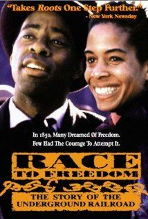 "Race to Freedom: The Underground Railroad DVD FIC RAC 90 min 5-6 This is the dramatic story of four slaves who escape from a cotton plantation in the South and travel along a clandestine network of escape routes, known as ""the underground railroad"", to freedom in Canada."