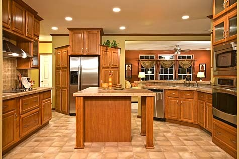 Another view of kitchen floor plans champion 733t manufactured and modular homes ideas for - Mobile homes kitchen designs ideas ...