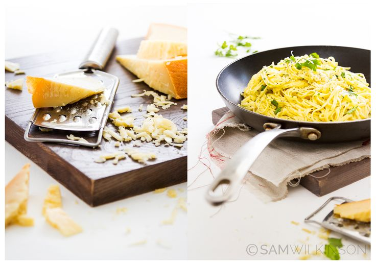 Food Photography Cheese & Fettuccine