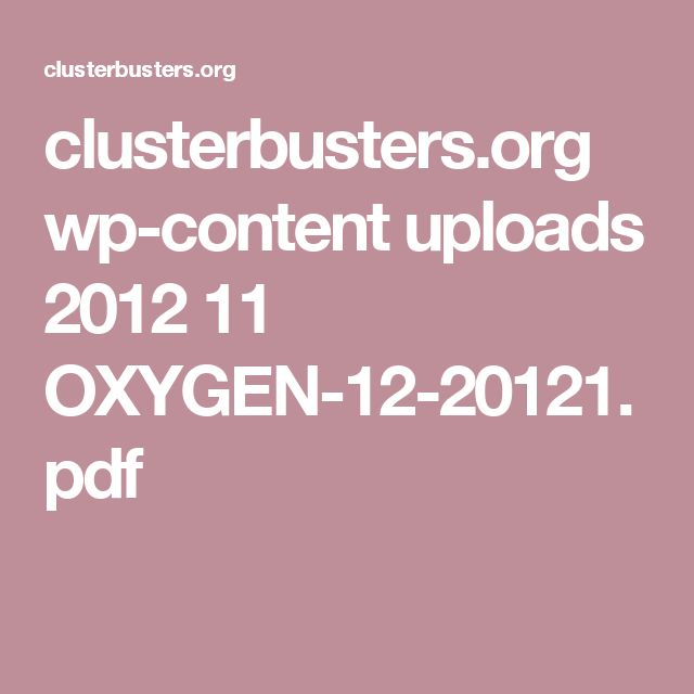 clusterbusters.org wp-content uploads 2012 11 OXYGEN-12-20121.pdf