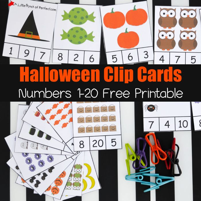 This month we have been using Halloween themed clip cards to help master counting, number recognition, and subitizing. The kids love using clip cards because it feels like a game to them and clipping the cards is perfect for strengthening hands and fine motor skills! Halloween Clip Cards: Numbers 1-20 Pin me please! 🙂 The …