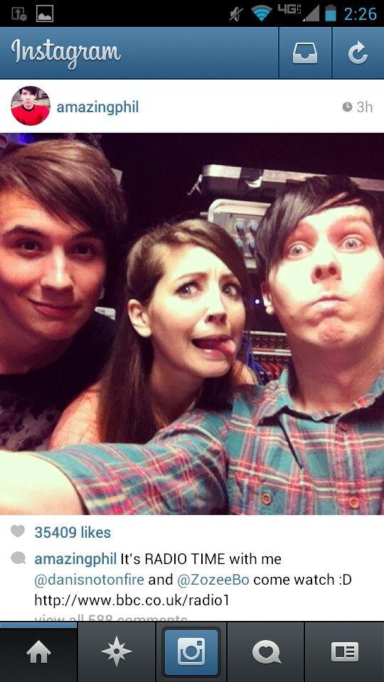 Dan, phil, and zoella
