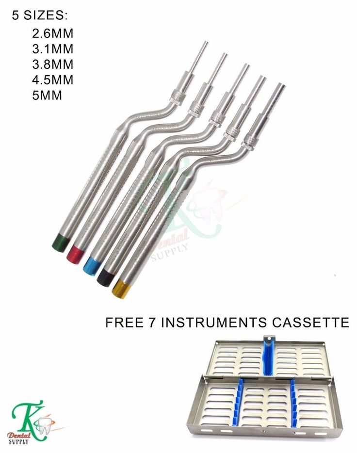 Dental Implantation Sinus Osteotomes Offset Handles Concave Tip Sinus Lift Tools