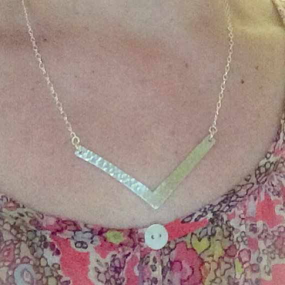 Ready-made: Argentium sterling silver chevron by ChantelMcCabe