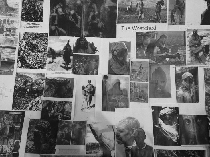 Design and makeup team inspiration board on the Mad Max Fury Road set. #lenakasparian