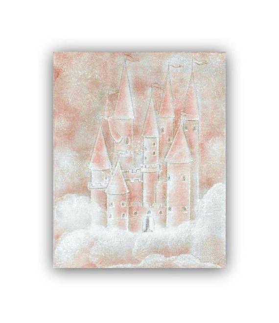 Princess Cinderella Peach Castle Princess room decor Baby