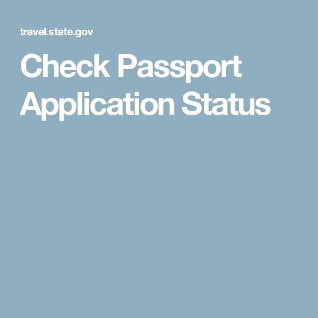 Check Passport Application Status