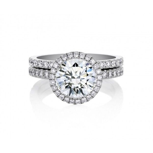 De Beers Aura Solitaire Ring ($5,900) ❤ liked on Polyvore featuring jewelry, rings, de beers, round ring, solitaire jewelry, de beers jewellery and round solitaire