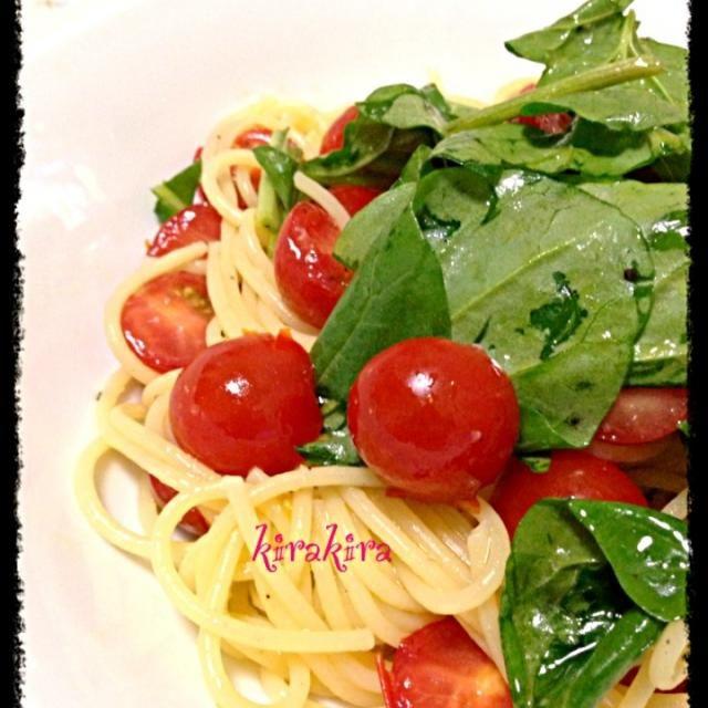 超簡単で美味しい! - 34件のもぐもぐ - トマトとルッコラの夏パスタ by ❄️✨kirakira✨❄️
