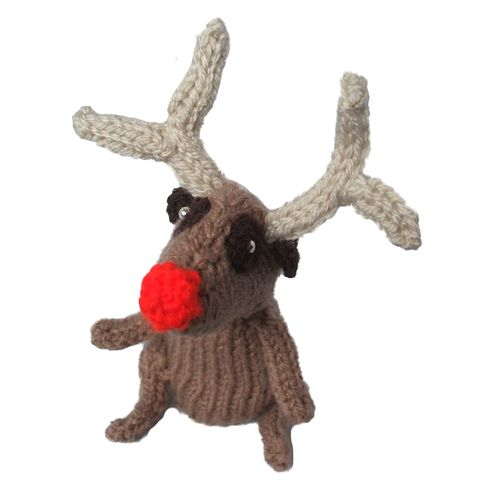 Knitted reindeer meerkat: Knits Reindeer, Reindeer Meerkat
