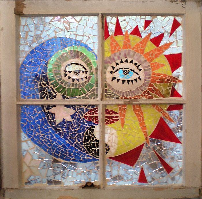 Mosaic Glass On Glass Windows | Mosaic Glass Windows Examples--Art for home and business, fun, unique!