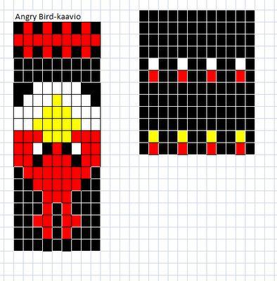 Pia Tuonosen neuleohjeet: Angry Birds-sukat