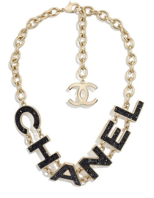 2c7ff61ba CHANEL CC logo Gold Black Crystal Strass Statement Choker Necklace 2018  runway #CHANEL #Statement