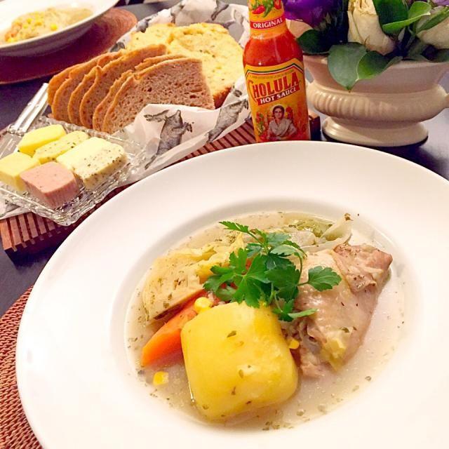 """お米が入る優しい味 - 10件のもぐもぐ - 南米チリのポトフ""""カスエラ デ ポージョ"""" by lunita"""