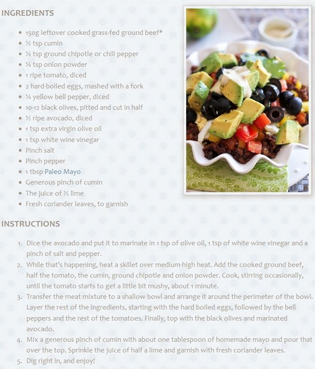 The Best Paleo CookBook: [PALEO] Taco Wannabe Mexican Breakfast Bowl