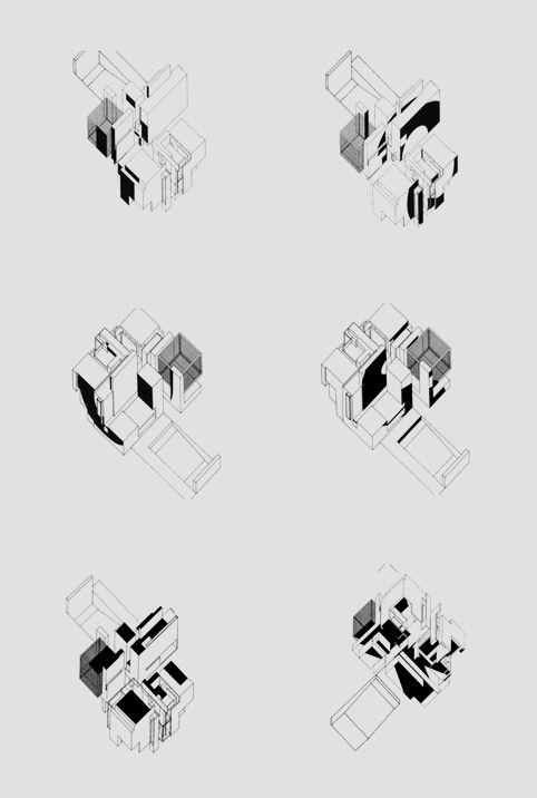 Peter Eisenman - House X by Panos Papanagiotou, via Behance