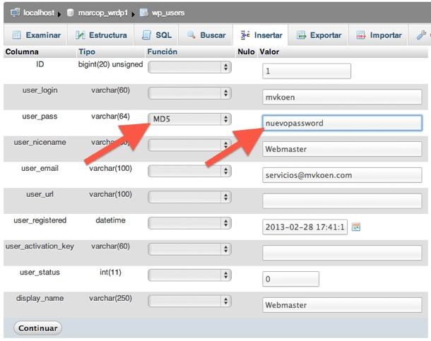 Cómo recuperar la contraseña del administrador de WordPress vía phpMyAdmin [...]