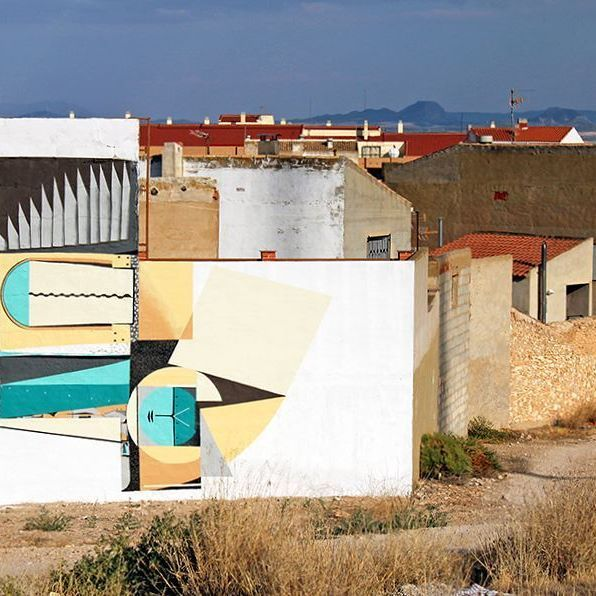 Tobarra (Albacete) 2014 #repost #spogo #mural #abstracto #geometrico #geometricoabstrato #rural #ruralart #streetart #urbanart #arteurbano #art