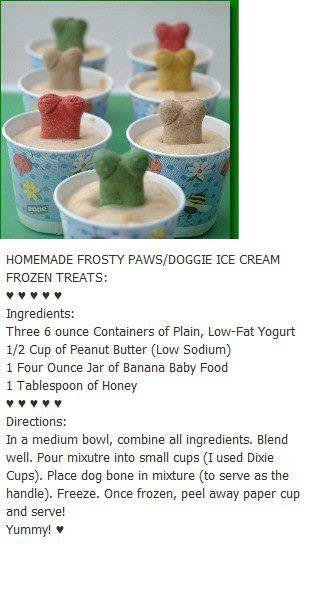 For Lola - Homemade Frosty Paws Dog treats