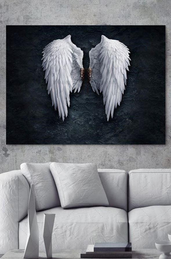 Angel Wings Canvas Wall Art Hd In 2019