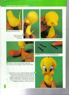 Tweety bird  Cake Decorating Tutorials (How To's) Tortas Paso a Paso