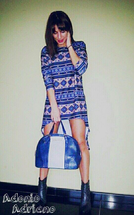 Blue bag! Boho style