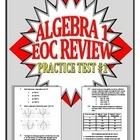 Because of the new common core and new tests being active this year, there are little to no resources for us teachers to use to prepare our students for their End-of-Course exams.   This is a 50 question practice EOC test for Algebra 1 and Integrated 1. All of the questions are originally written and all graphs are originally produced using the new standards and released tests as a guide.