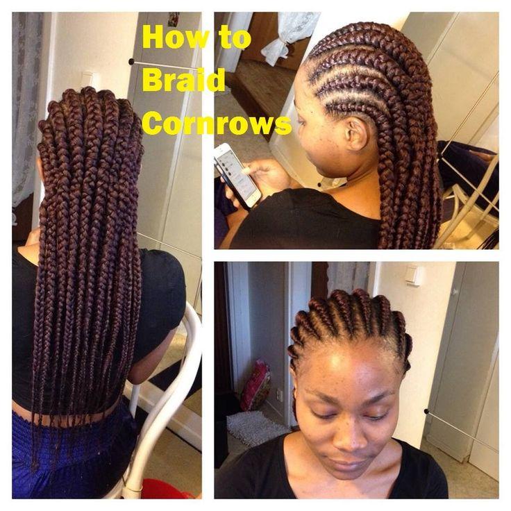 HOW TO: Big Cornrow Braids [Video] - http://community.blackhairinformation.com/video-gallery/braids-and-twists-videos/big-cornrow-braids-video/