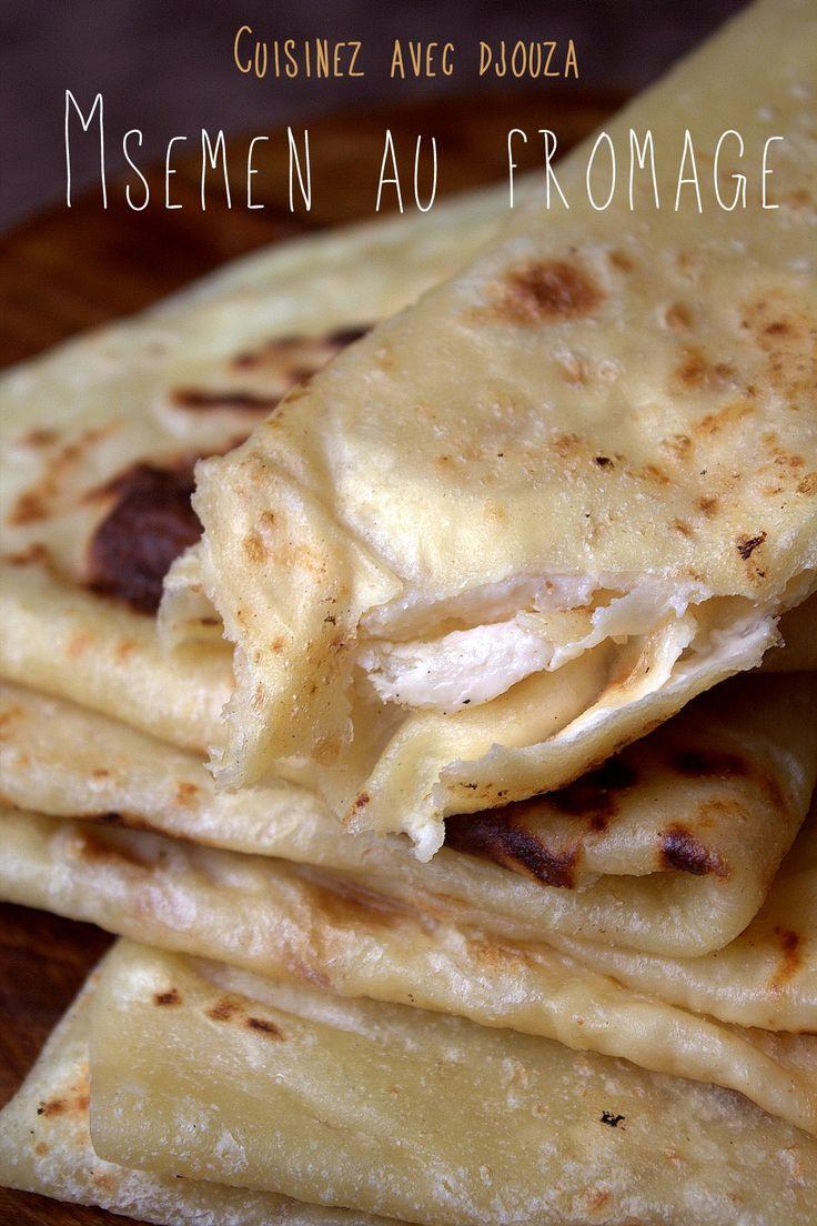 Crêpes ou msemen au fromage