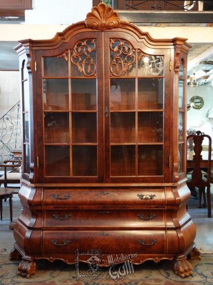 Aparador cristalero ingl s chippendale sillas y sillones for Sofas clasicos ingleses