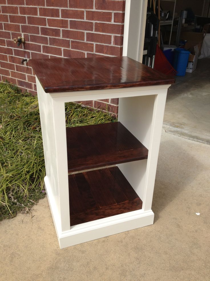 Ana White | Painted and Stained Katie Open Shelf Nightstand – DIY Projects