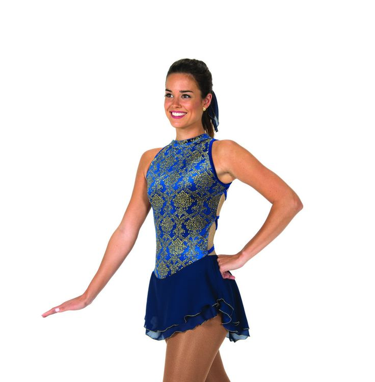 New Jerrys Competition Skating Dress 116 Essex Navey Blue Made on Order | eBay