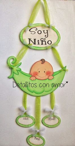 colgante para la puerta de la maternidad ツ https://www.facebook.com/pages/Detallitos-con-amor/226388200757614?ref=br_rs