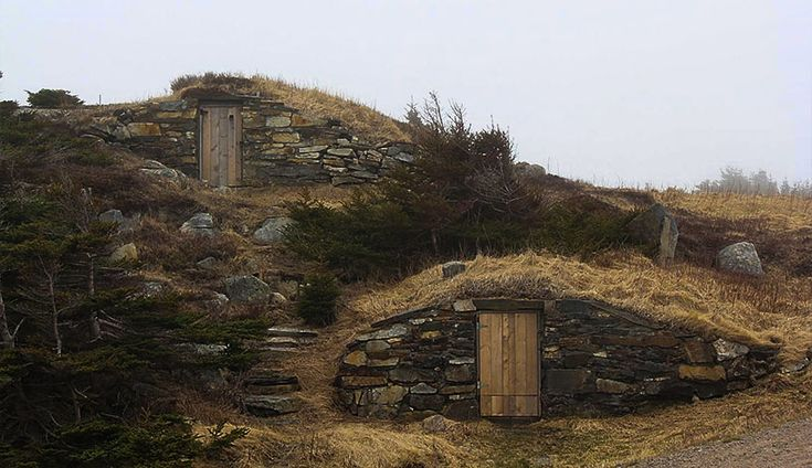 Elliston's famous upstairs/downstairs cellars Root cellar capital of the world