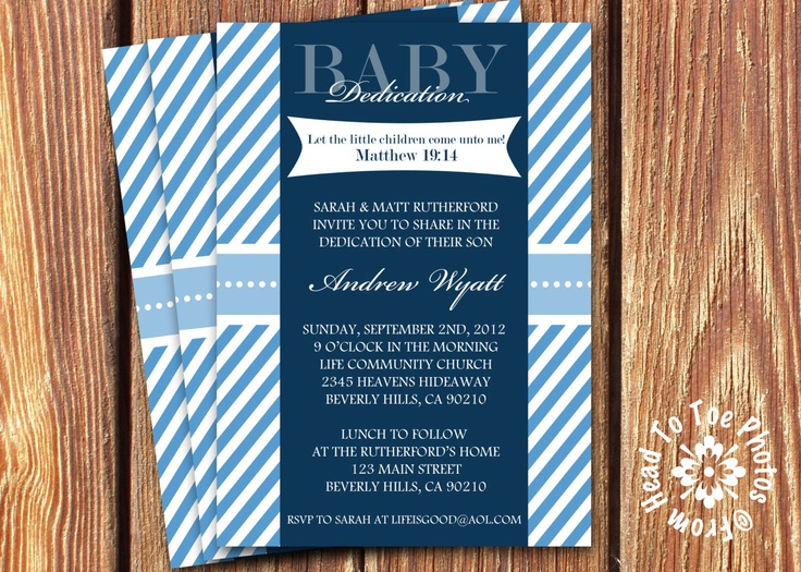Baby Dedication Invitations by FromHeadtoToeDesigns on Etsy, $12.00