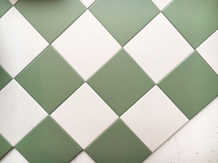 Granitklinker - Schackrutigt 10 x 10 cm grön/vit