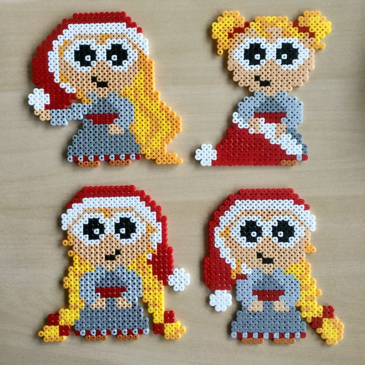 Nissepiger, jul, perler, hama