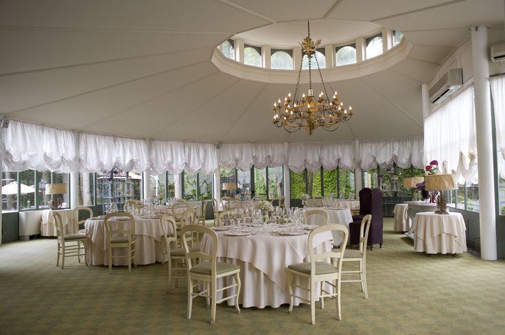 L'orangerie di Villa Acquaroli, una location per matrimoni e ricevimenti a Carvico (BG).