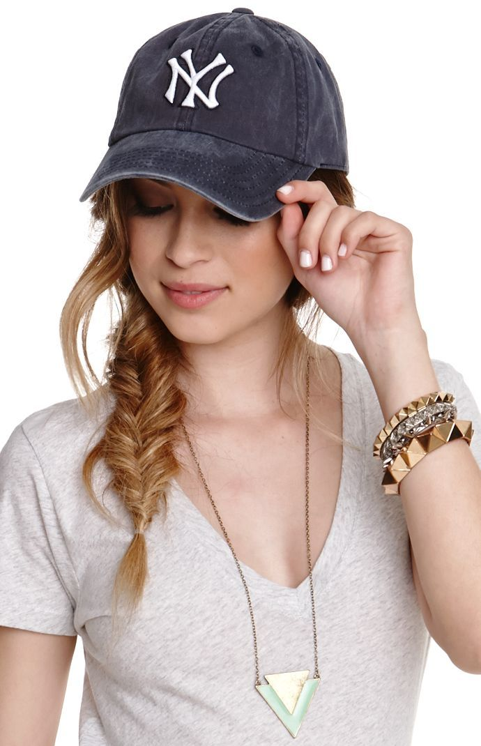 Baseball hat messy braid for lazy ed3de5f4f3d